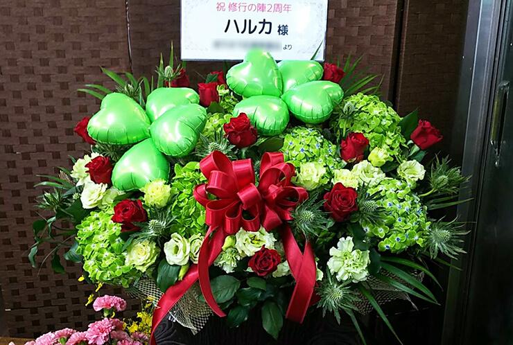 赤坂SO-DA ハルカ様のイベント祝いクローバーバルーンアレンジ