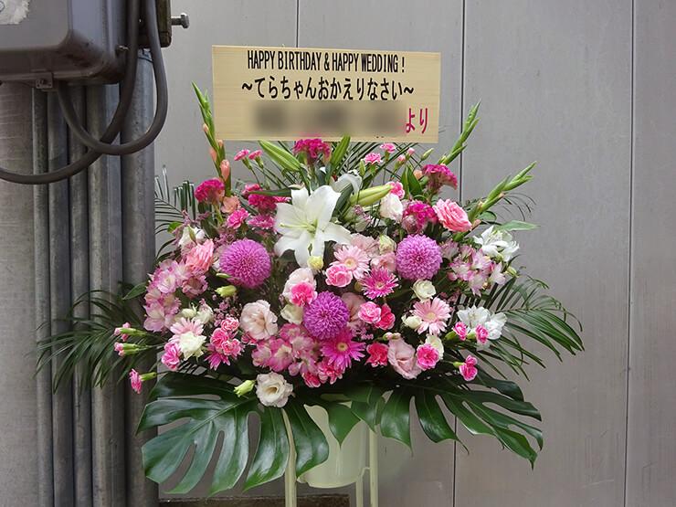 北参道ストロボカフェ 寺崎裕香様のバースデーイベントスタンド花
