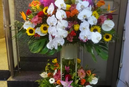 湯島 club圓様の誕生日祝いスタンド花