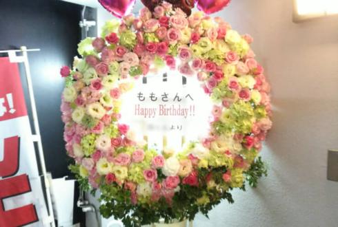 高田馬場Club Eagle もも様の誕生日祝いリース型スタンド花