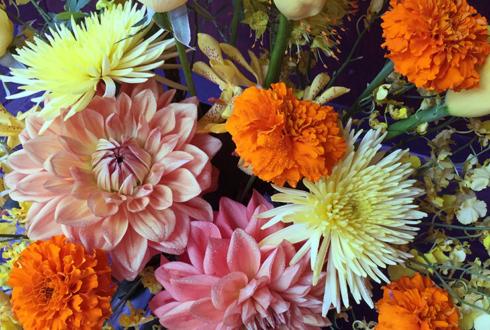 銀座 藍画廊 宗岡さと子様の個展祝い花