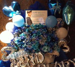 六本木 市川慶一郎様の生誕祭イベント祝いバルーンスタンド花