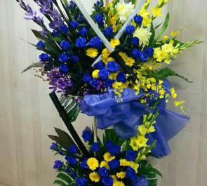 渋谷区文化総合センター大和田・伝承ホール 秋月栄志様の舞台出演祝いスタンド花