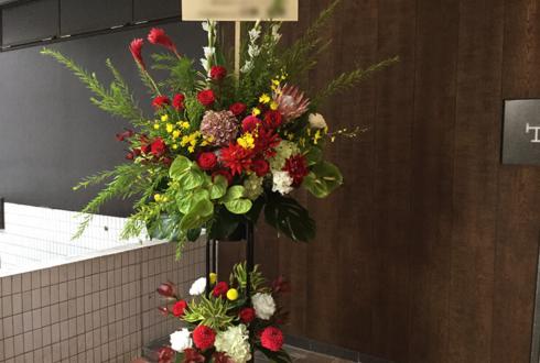 新宿イーストサイドスクエア スクウェア・エニックス様のFINAL FANTASY XIV 5周年祝いスタンド花2段
