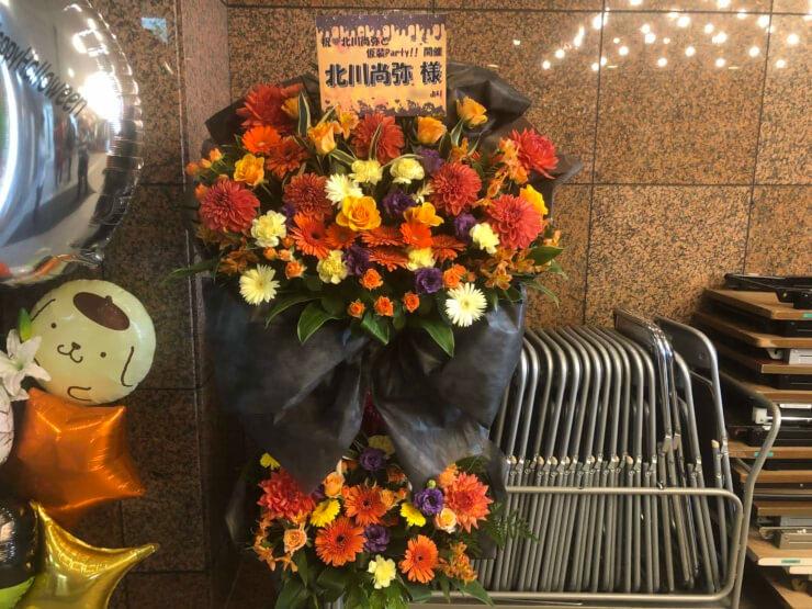 横浜市教育会館 北川尚弥様のハロウィンイベント祝いスタンド花2段