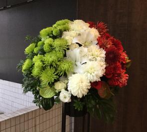 赤松林太郎様のピアノリサイタル公演祝いスタンド花
