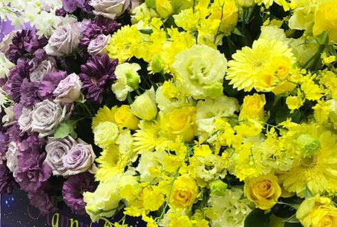 パシフィコ横浜 乃木坂46阪口珠美様の握手会祝い2基連結ハーフ&ハーフスタンド花