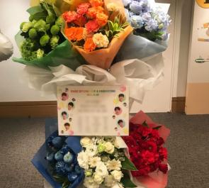 品川インターシティーホール RAINZ様のライブ&ファンミーティング祝いスタンド花