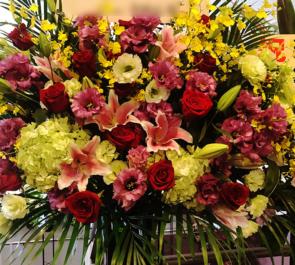 築地ブディストホール 嘉人様の舞台出演祝いスタンド花