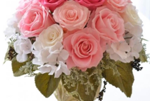 麻布十番 麻布医院様の周年祝い花 プリザーブドフラワー