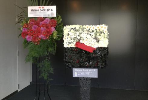日本橋三井ホール Maison book girl様のワンマンライブCDジャケットモチーフデコスタンド花