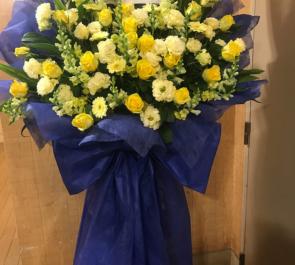 ウッディシアター中目黒 森田晋平様の主演舞台公演祝い花束風スタンド花