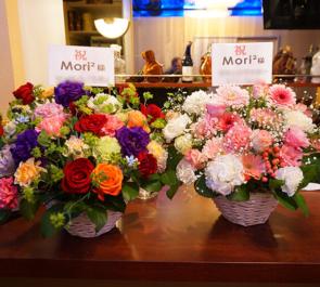 池袋Mori²様の1周年祝い花