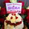 豊洲PIT しまさか(あほの坂田・志麻)様のバースデーライブ公演祝いフラワーケーキ