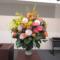 武蔵野市 亜細亜大学様の式典演台花とお食事会テーブル花