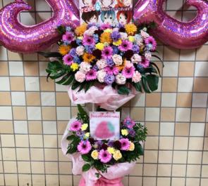 両国国技館 すとろべりーぷりんす様の「すとめもvol.6」公演祝い6colorsバルーンスタンド花