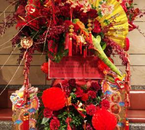 シアターサンモール 中澤まさとも様 & 塚本拓弥様 & 村上健斗様 & 柴田茉莉様の舞台出演祝いスタンド花