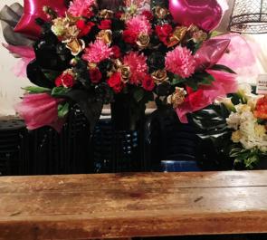 新宿LOFT ジュリアナの祟り様のメジャーデビュー祝いライブスタンド花