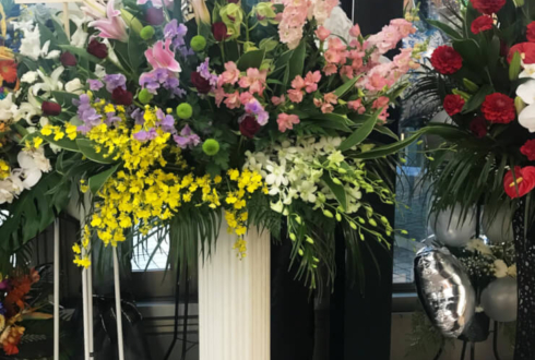 天王洲銀河劇場 塩田泰造様&井上正大様の舞台『神ノ牙-JINGA-転生』公演祝いスタンド花