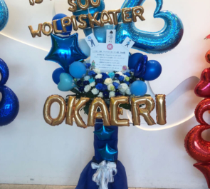 TOKYO DOME CITY HALL いすぼくろ様 & ウォルピスカーター様 & Sou様のライブ公演祝いバルーンフラスタ