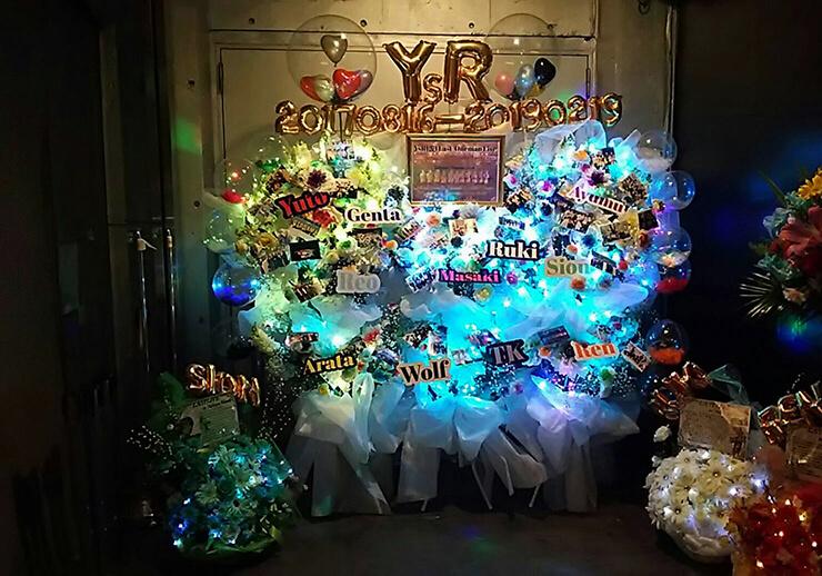 渋谷WOMB YsR(仮) 様のラストワンマンライブ公演祝い3基連結フラスタ
