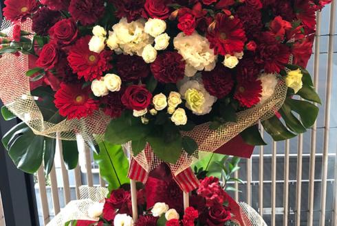 浅草橋ヒューリックホール 北川尚弥様のバレンタインイベント祝いスタンド花2段