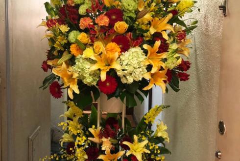 銀座融合クラブ大笑様の5周年祝いスタンド花