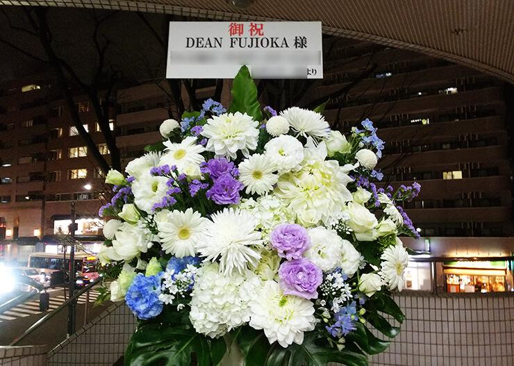 NHKホール DEAN FUJIOKA様のライブ公演祝いスタンド花