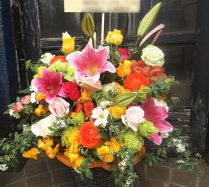 東京芸術劇場 石橋静河様の舞台「こそぎ落としの明け暮れ」出演祝い楽屋花