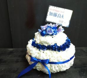 青山RizM 加藤良輔様のバースデーイベント祝い花 フラワーケーキ
