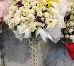 天空劇場 加藤将之様の朗読劇出演祝い花束風アイアンスタンド花