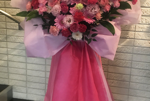 あうるすぽっと 執事歌劇団 百合野様の『 Albedo ~わたしのたったひとつの願いごと~ 』出演祝いハートスタンド花
