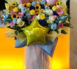 舞浜アンフィシアター 八宮めぐる役 峯田茉優様のシャニマス出演祝い花束風スタンド花
