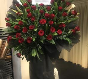 あうるすぽっと 執事歌劇団 黒崎様の『 Albedo ~わたしのたったひとつの願いごと~ 』ゲスト出演祝いスタンド花