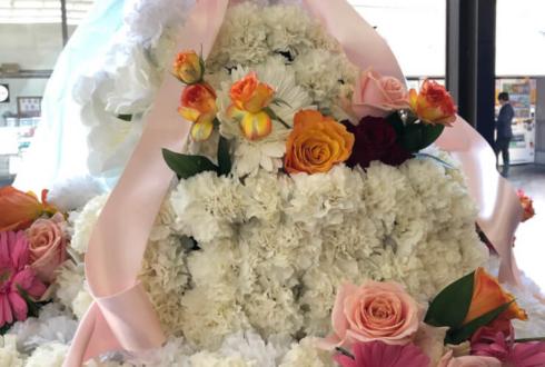目黒区中小企業センターホール 宇野結也様のバースデーイベント祝いフラワーケーキフラスタ
