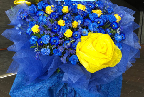 舞浜アンフィシアター 白石万浬様 橋本祥平様のArgonavis1stライブ公演祝いフラスタ blue × yellow