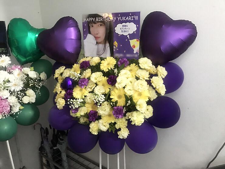 AsakusaGoldSounds 週末アイドル部3期生 小田切紫様の誕生日祝い&ライブ公演祝いバルーンフラスタ