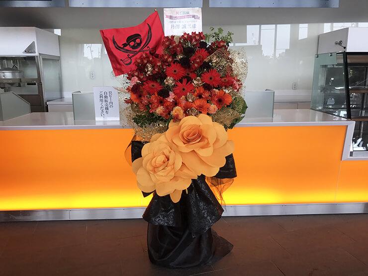舞浜アンフィシアター 丹澤誠二様のスタミュミュカリグル出演祝いジャンボペーパーフラワーフラスタ