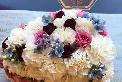 七生公会堂 堀江瞬様のamavo vol.1ゲスト出演祝い&誕生日祝い花 フラワーケーキ