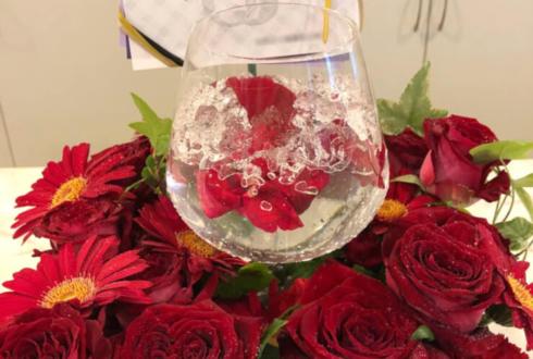 星陵会館 和合真一様の「和合の輪感謝祭」祝い花 ワイングラスアレンジ