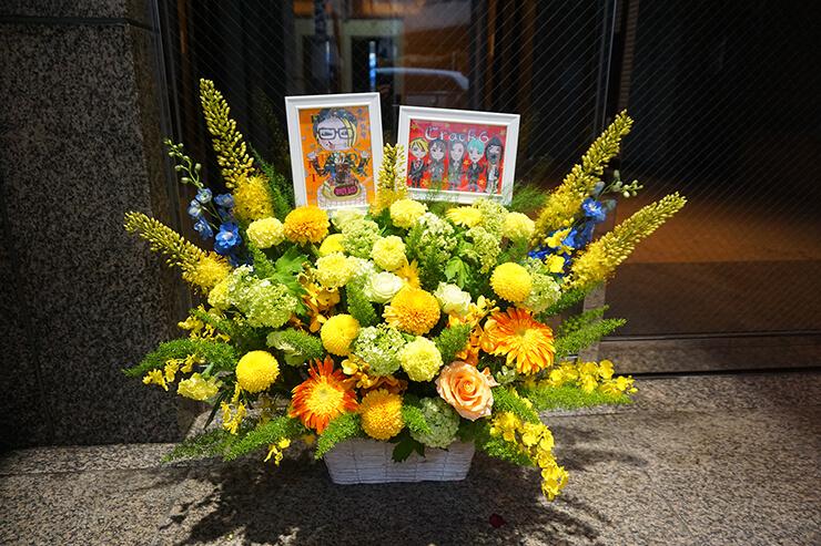 渋谷REX Crack6 TENZIXX様の誕生日祝い&ライブ公演祝い花
