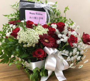 TOKYO FM HALL 糸川耀士郎様の「26歳+1ヶ月 Birthday party!!」開催祝い楽屋花