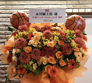TOKYO FM HALL 糸川耀士郎様の「26歳+1ヶ月 Birthday party!!」開催祝いフラスタ