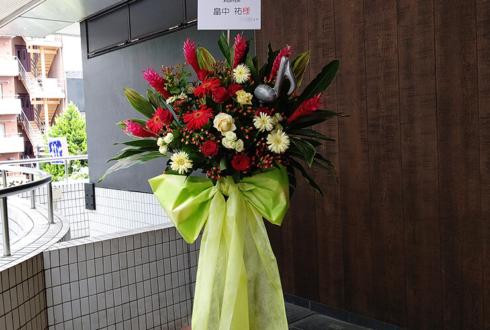 豊洲PIT 畠中祐様のライブ公演祝い赤×淡黄色スタンド花