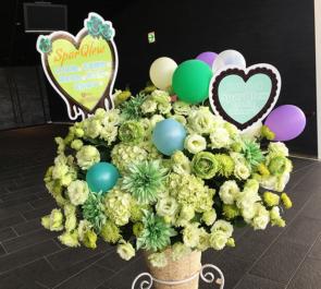舞浜アンフィシアター SparQlew様の1stライブ公演祝いコーンスタンド花
