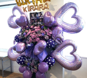 渋谷DESEOmini SCRamBLE 月愛きらら様の生誕祭祝いフラスタ+花束