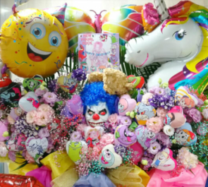 新宿club SCIENCE iCONE KAZUKI様のバースデーライブ公演祝い3基連結フラスタ