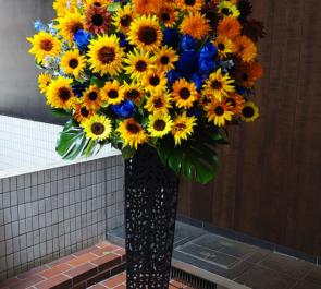 赤坂 レッドシアター 置鮎龍太郎様の朗読劇出演祝いアイアンスタンド花