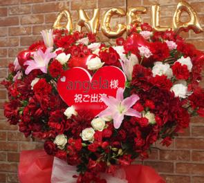 さいたまスーパーアリーナ angela様のアニメロサマーライブ出演祝いハートスタンド花