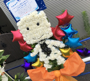 豊洲PIT 電脳少女シロ様の生誕祭祝いシロ組モチーフフラスタ